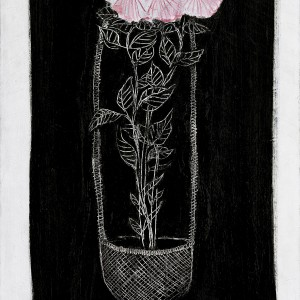 Sanyu, Chrysanthèmes roses dans une corbeille (Pink Chrysanthemums in a Basket), 1931, oil on canvas, 92 x 60 cm