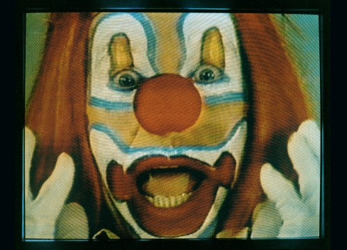 BRUCE NAUMAN Clown Torture 1987  The Art Institute of Chicago, Watson F. Blair Prize, Wilson L. Mead, and Twentieth-Century Purchase funds; through prior gift of Joseph Winterbotham; gift of Lannan Foundation, 1997.162  © Bruce Nauman / ARS, NY and DACS, London 2020, Courtesy Sperone Westwater, New York