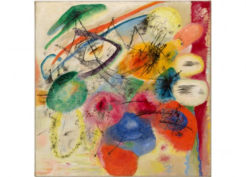 VASILY KANDINSKY Black Lines,1913 Solomon R. Guggenheim Museum, New York, Solomon R. Guggenheim Founding Collection, By gift 37.241 © Vasily Kandinsky, VEGAP, Bilbao, 2020